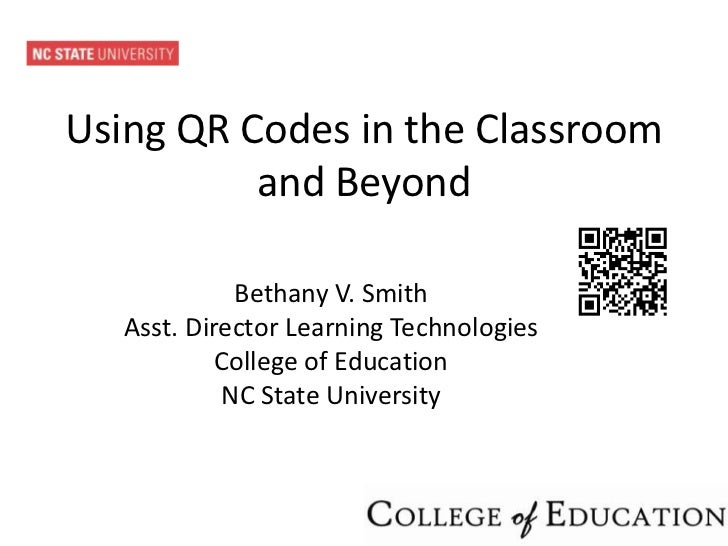 QR Codes in the Classroom