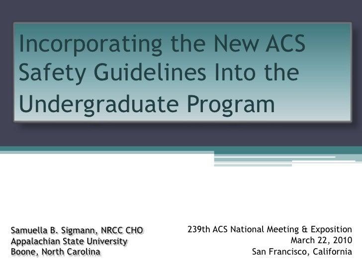 App State Undergrad Safety