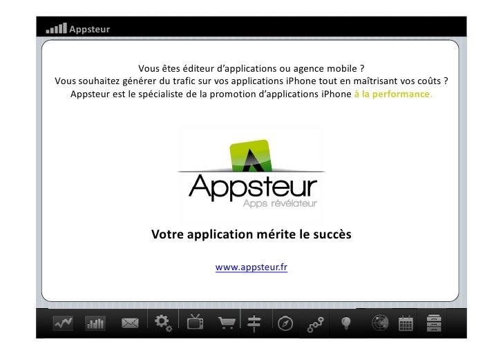 Appsteur                   Vous êtes éditeur d applications ou agence mobile ?Vous souhaitez générer du trafic sur vos app...
