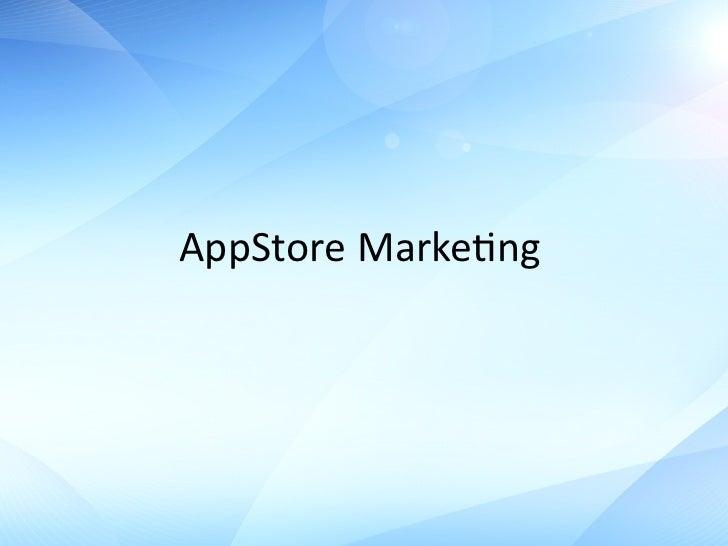 продвижение приложений в Appstore