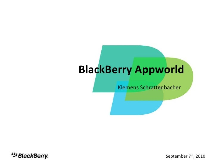 Mobile App Stores - BlackBerry's AppWorld