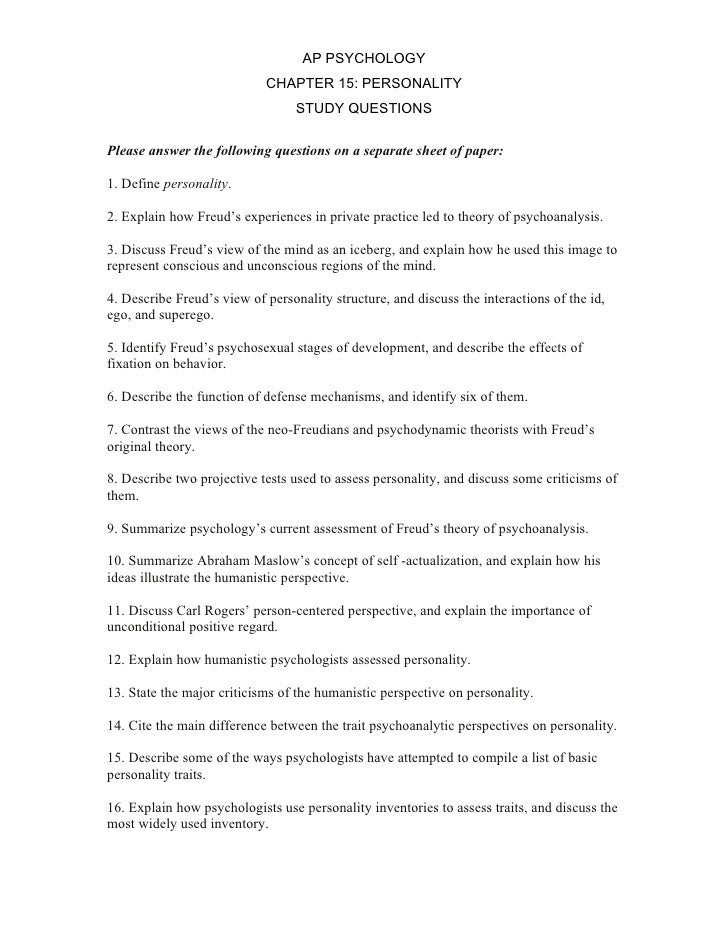ap psychology chapter 2 worksheet answer Ap psychology review test answer key 1-2 1 a is the answer b psychology has never been defined in terms of conscious and unconscious activity c from the 1920s into the 1960s, psychology was defined as the science of observable behavior d.