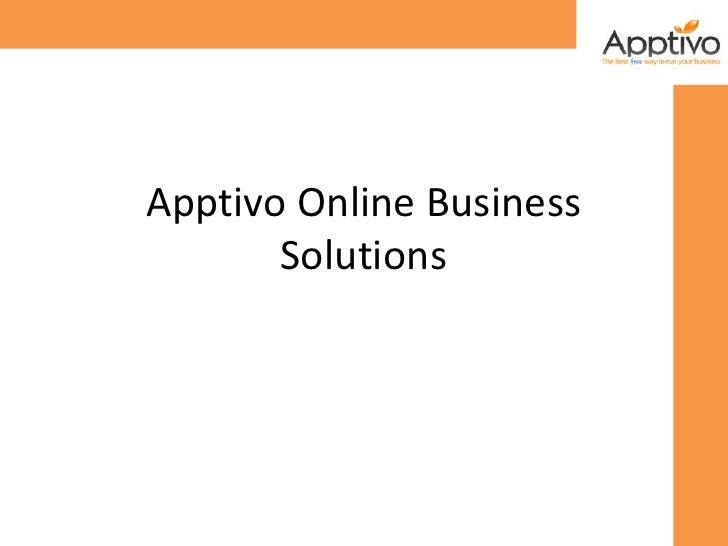 Apptivo online solutions
