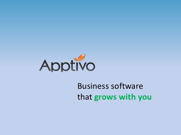 Apptivo - Business software that grows with you