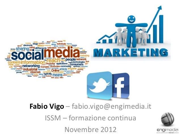 Appunti di Social Media e SM Marketing (11-2012)
