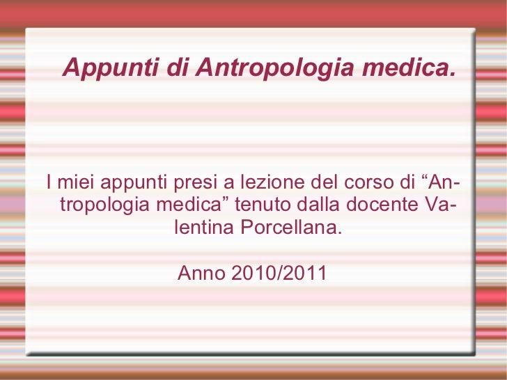 Appunti antropologia