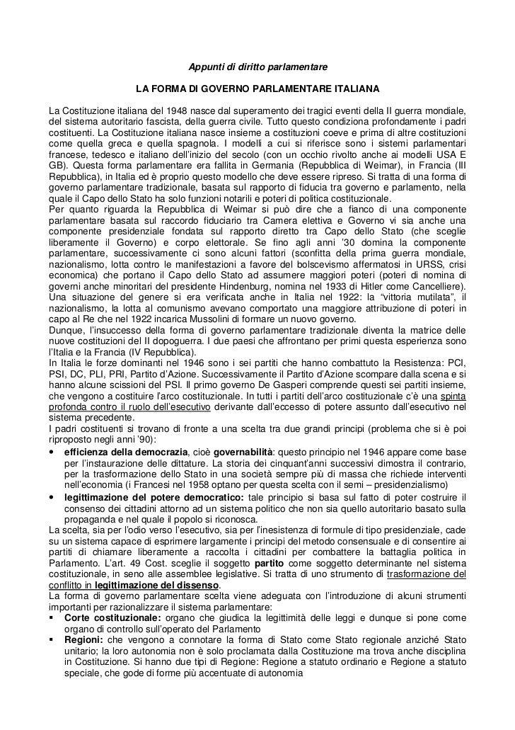 Appunti di diritto parlamentare