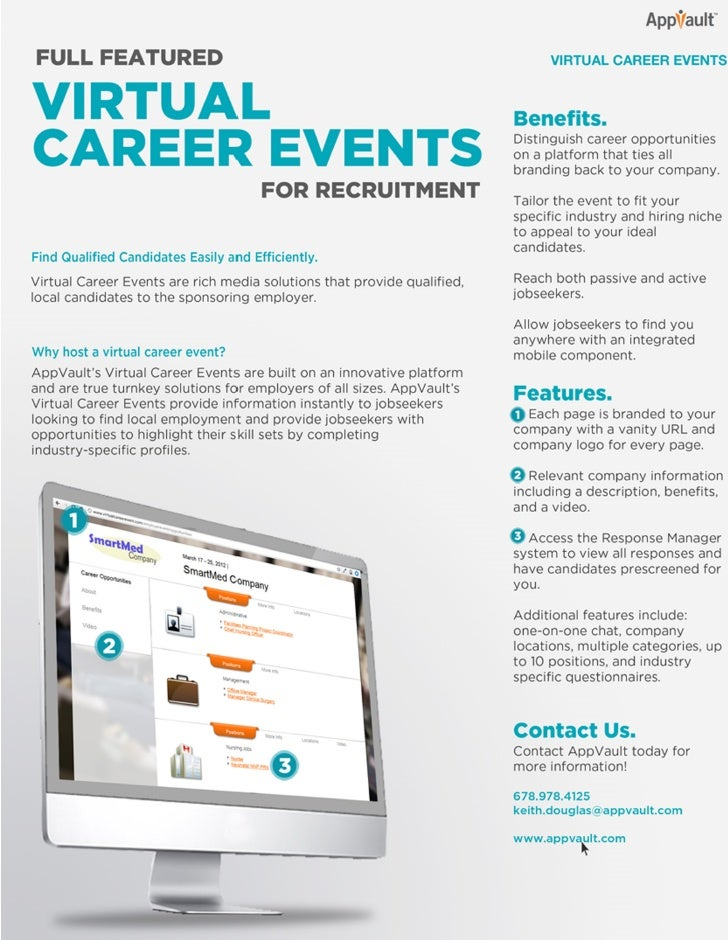 AppVault Virtual Career Events One Sheet