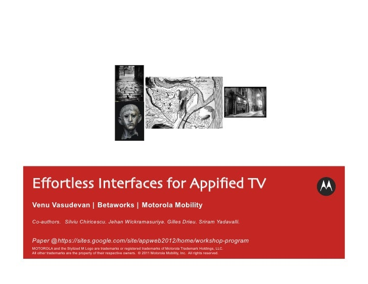 Effortless Interfaces for Appified TV