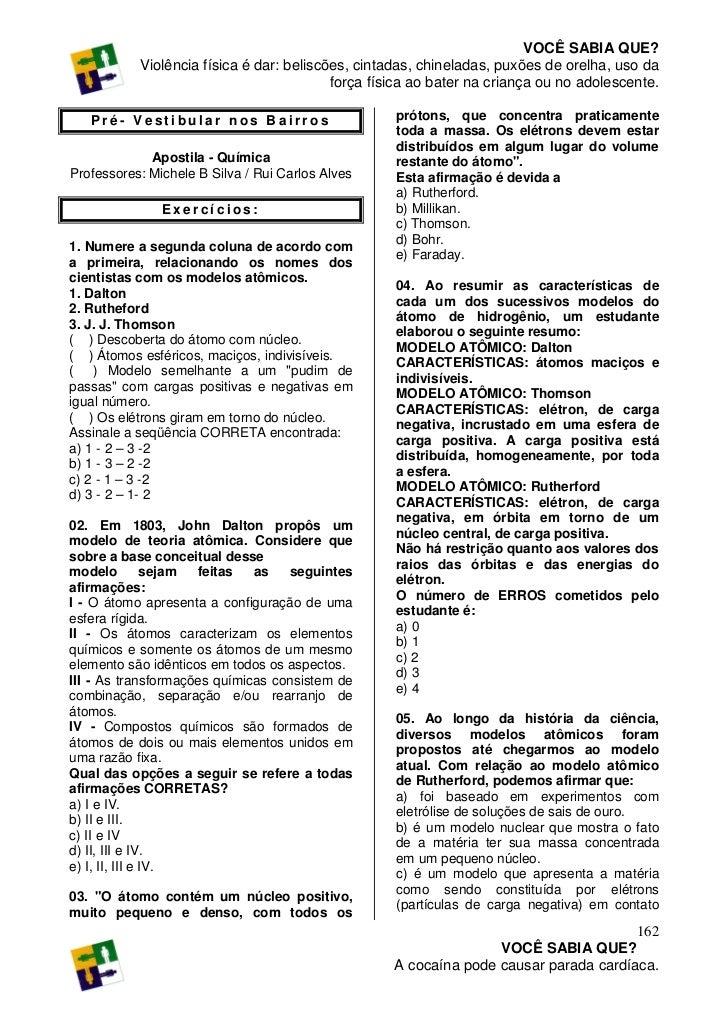 Ap quimica modulo 01 exercicios