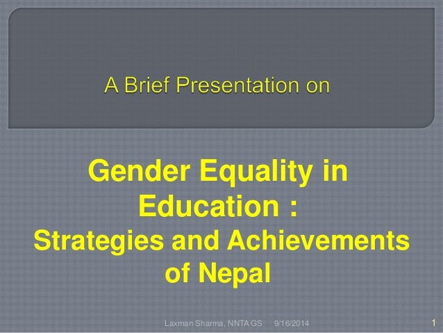 thesis on gender equality