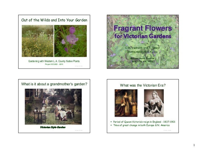 Fragrant Flowers for Victorian Gardens - notes