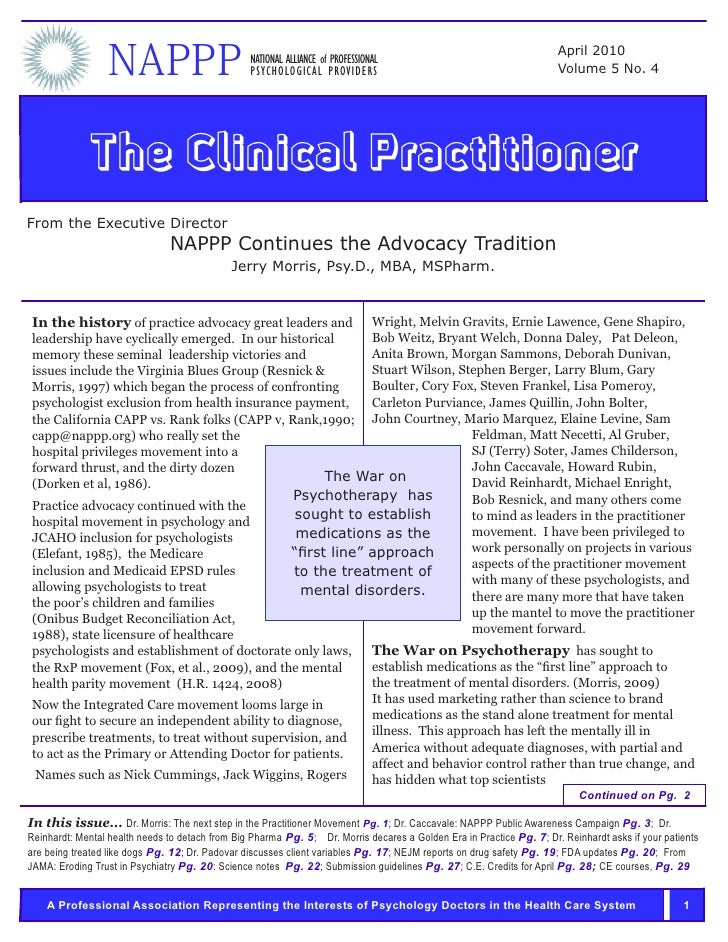 NAPPP                           NATIONAL ALLIANCE of PROFESSIONAL                                                  PSYCHOL...