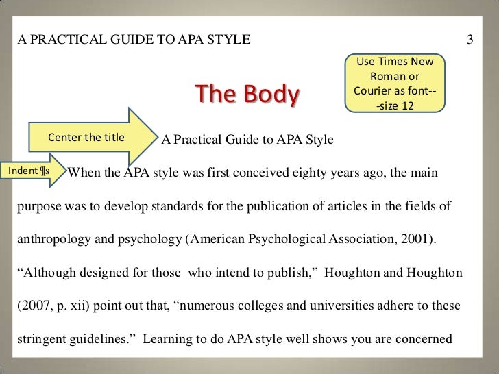 apa research paper for dummies