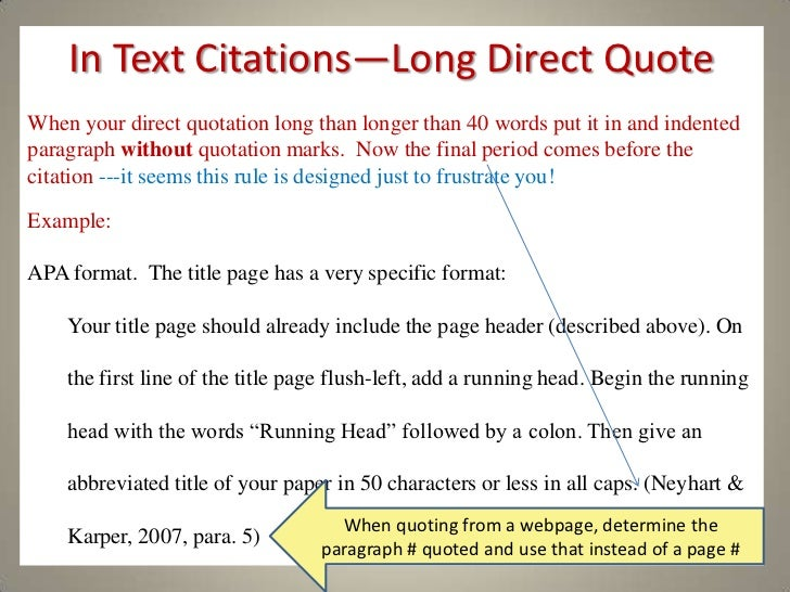 Apa Format Example In Text Citation A practical guide to apa style
