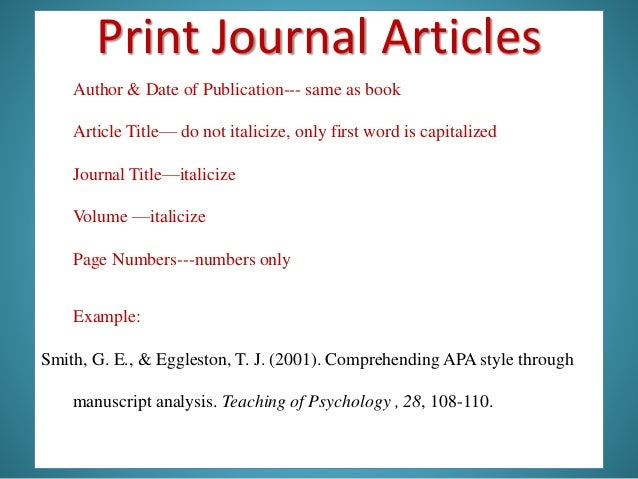 Purdue OWL APA Formatting and Style Guide