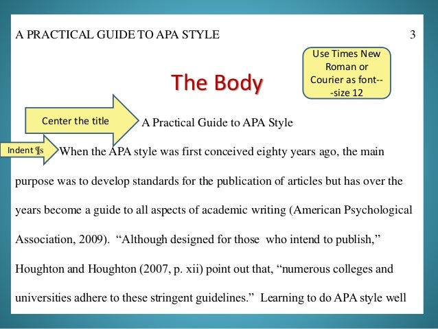 A Practical Guide To Apa Style Updated