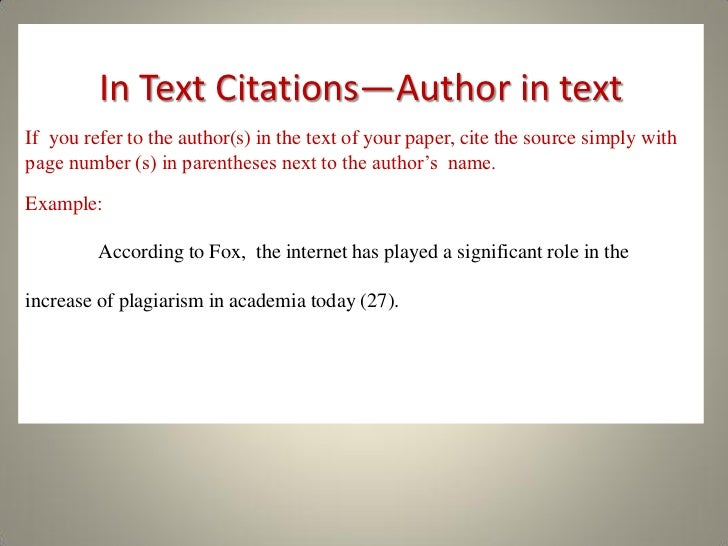 how to write an in text citation apa