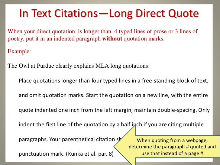 Extended essay in text citations
