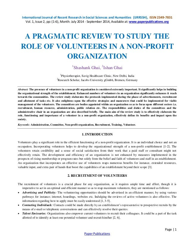 Organizational and Nonprofit Management research paper samples