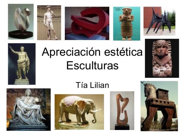 Apreciación estética Esculturas Tía Lilian