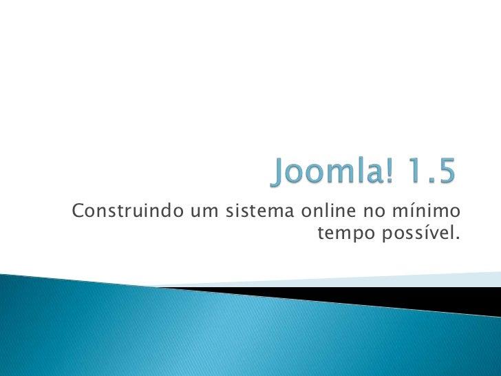 Aprenda Joomla! 1.5 fácil!