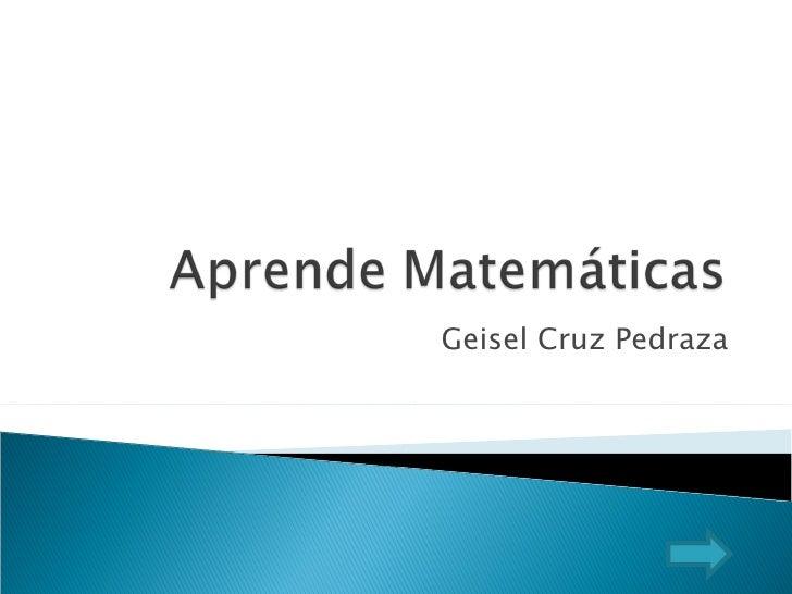 Geisel Cruz Pedraza