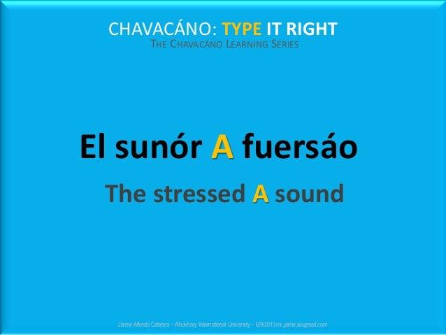 CHAVACÁNO: TYPE IT RIGHT THE CHAVACÁNO LEARNING SERIES Jaime Alfredo Cabrera – Albukhary International University – 6/9/20...