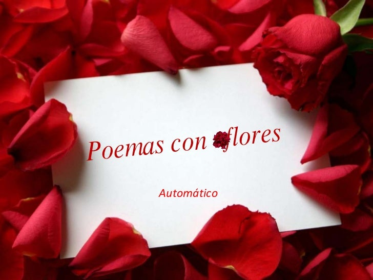 Automático Poemas con  flores
