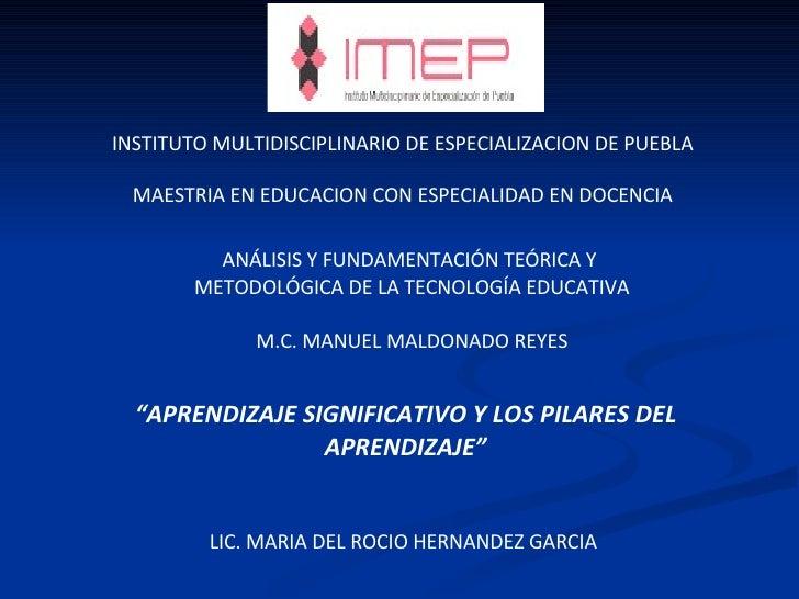 INSTITUTO MULTIDISCIPLINARIO DE ESPECIALIZACION DE PUEBLA MAESTRIA EN EDUCACION CON ESPECIALIDAD EN DOCENCIA ANÁLISIS Y FU...