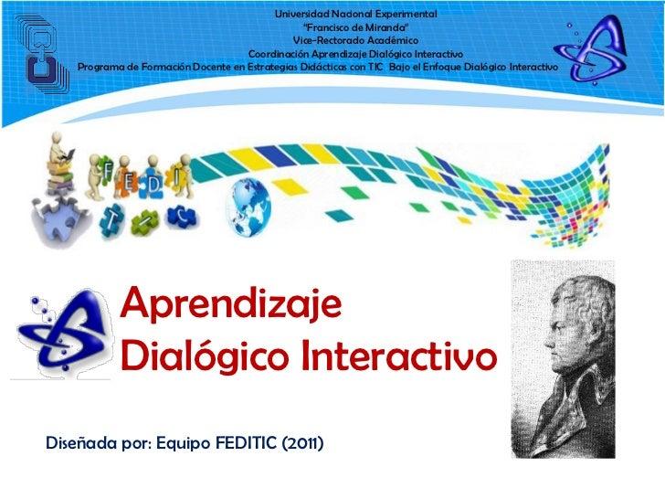 Aprendizaje dialogico interactivo
