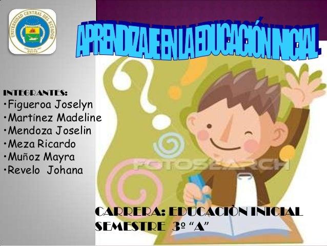 INTEGRANTES:  •Figueroa Joselyn •Martínez Madeline •Mendoza Joselin •Meza Ricardo •Muñoz Mayra •Revelo Johana  CARRERA: ED...