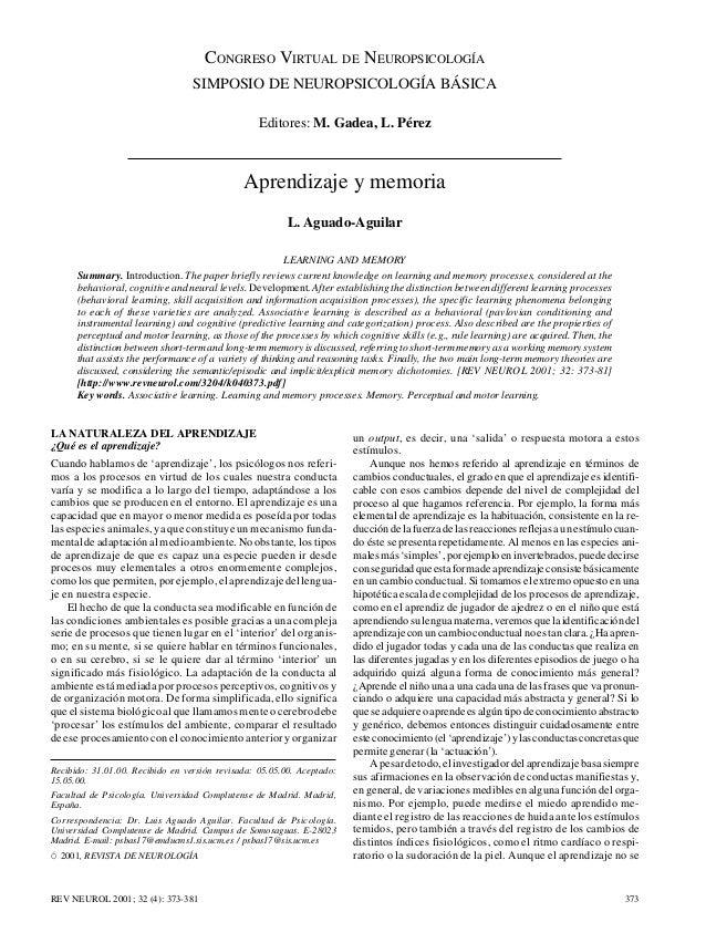 NEUROPSICOLOGÍA BÁSICA  CONGRESO VIRTUAL  DE  NEUROPSICOLOGÍA  SIMPOSIO DE NEUROPSICOLOGÍA BÁSICA Editores: M. Gadea, L. P...