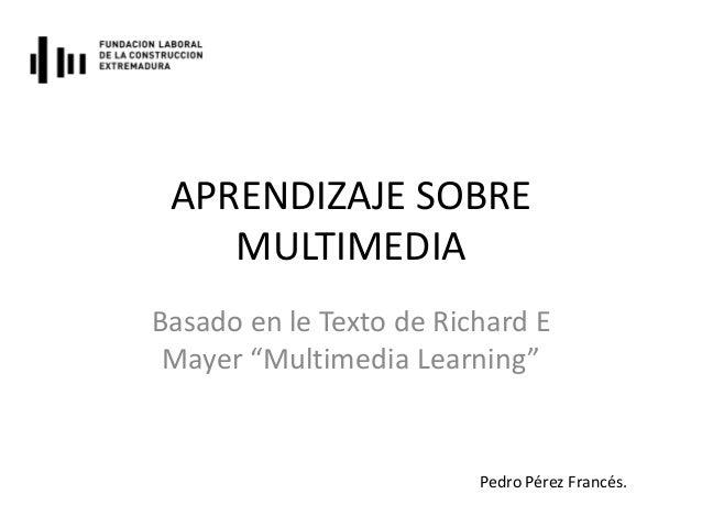 Aprendizaje sobre multimedia