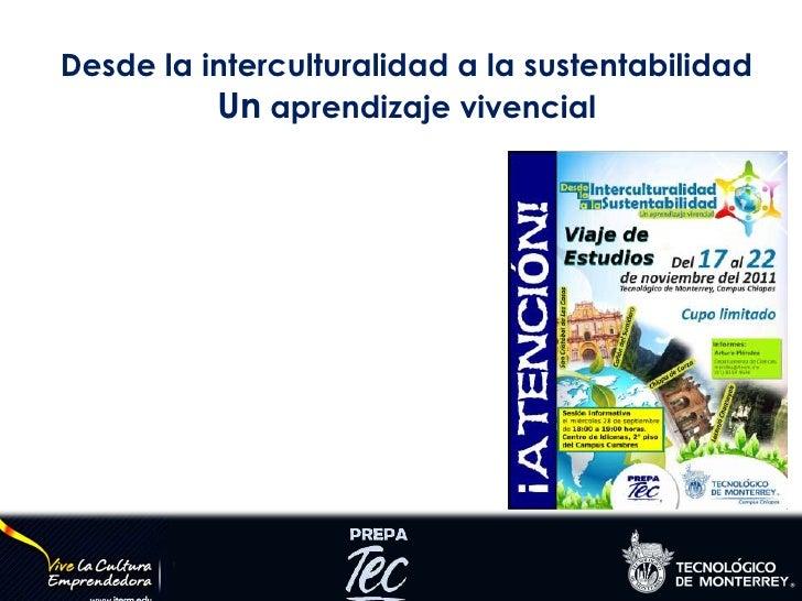 Desde la interculturalidad a la sustentabilidad<br />Un aprendizaje vivencial<br />