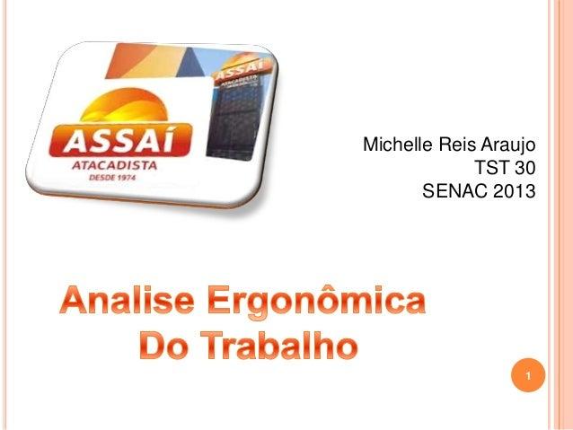 Michelle Reis Araujo TST 30 SENAC 2013 1