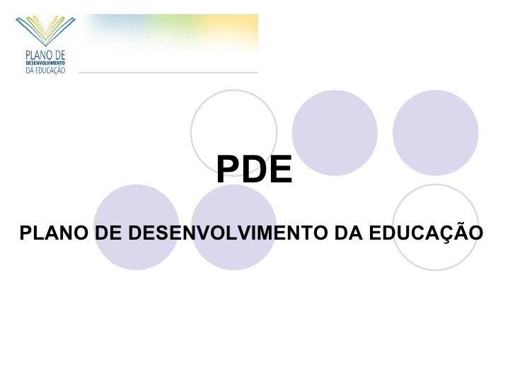 PDEPLANO DE DESENVOLVIMENTO DA EDUCAÇÃO