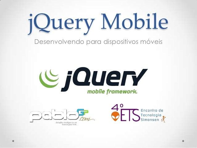 jQuery Mobile - Desenvolvimento para dispositivos móveis