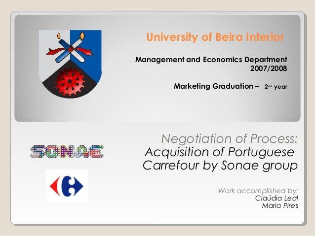 University of Beira InteriorManagement and Economics Department                          2007/2008        Marketing Gradua...