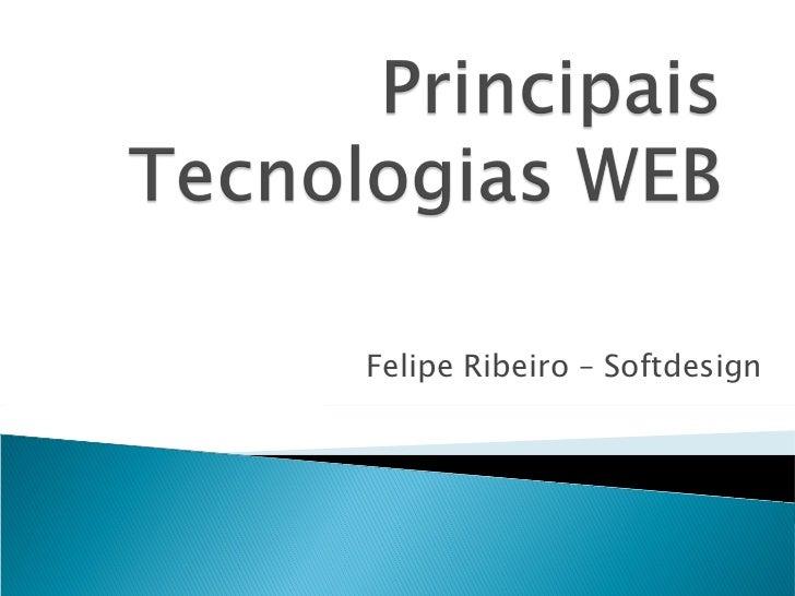Principais Tecnologias WEB