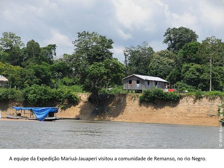 © WWF-Brasil / Zig Koch A equipe da Expedição Mariuá-Jauaperi visitou a comunidade de Remanso, no rio Negro.