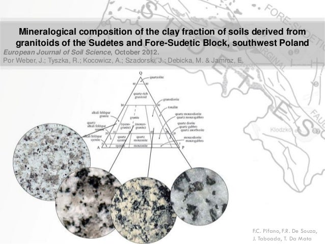 Mineralogical composition of the clay fraction of soils derived from granitoids of the Sudetes and Fore-Sudetic Block, sou...