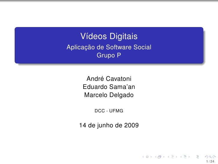 Vídeos Digitais