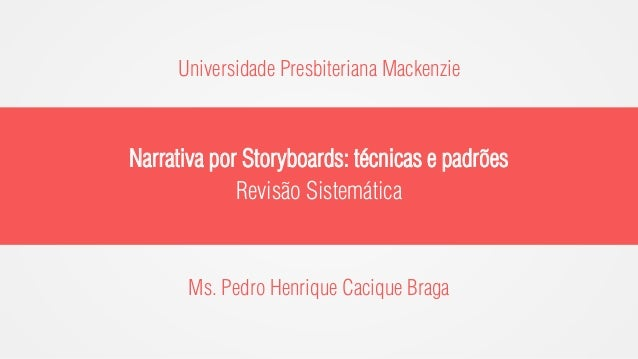 Narrativa por Storyboards: técnicas e padrões (apresentação)