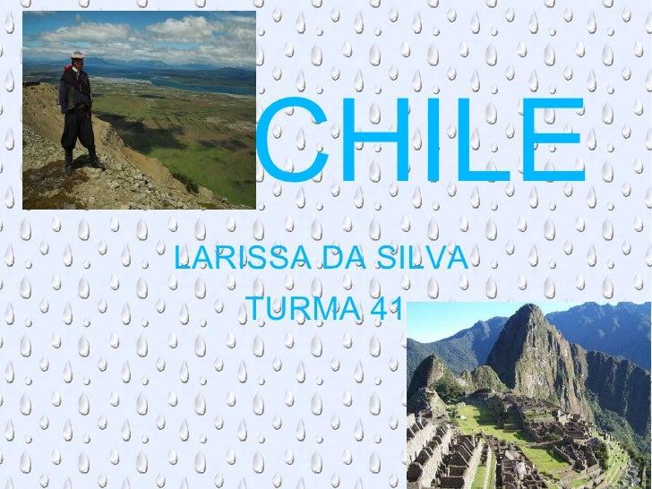 LARISSA DA SILVA  TURMA 41 CHILE