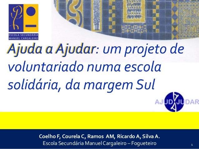 Painel II - Redução da Pobreza no contexto de um mundo sustentável: Conceição Courela, et al - (Esc. Sec. Manuel Cargaleiro) - Uma escola solidária na margem sul
