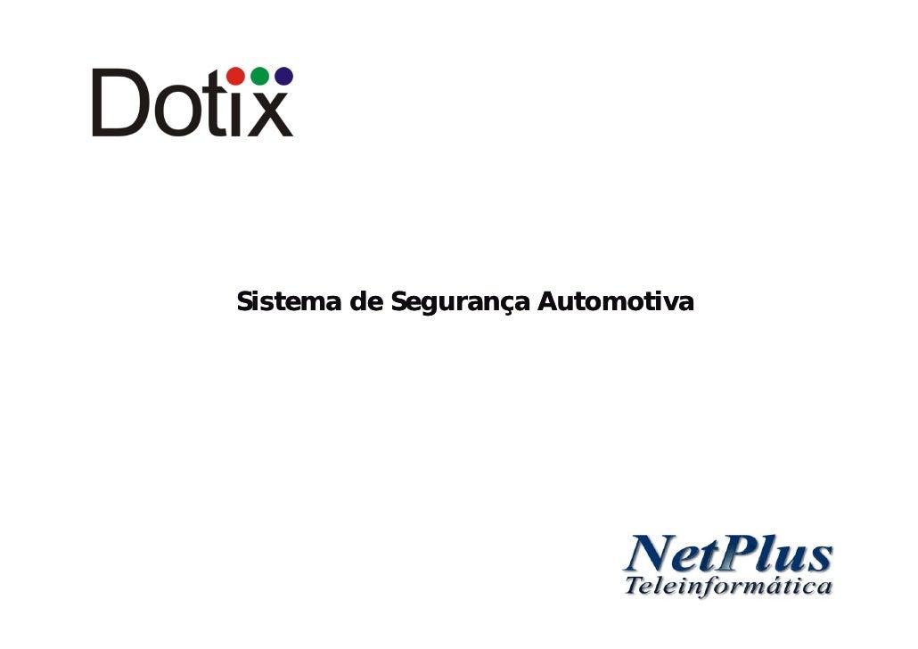 Apresentação DVR Automotivo Dotix