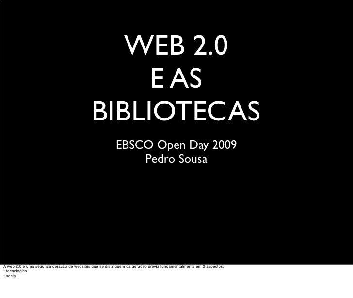WEB 2.0                                                  E AS                                             BIBLIOTECAS     ...