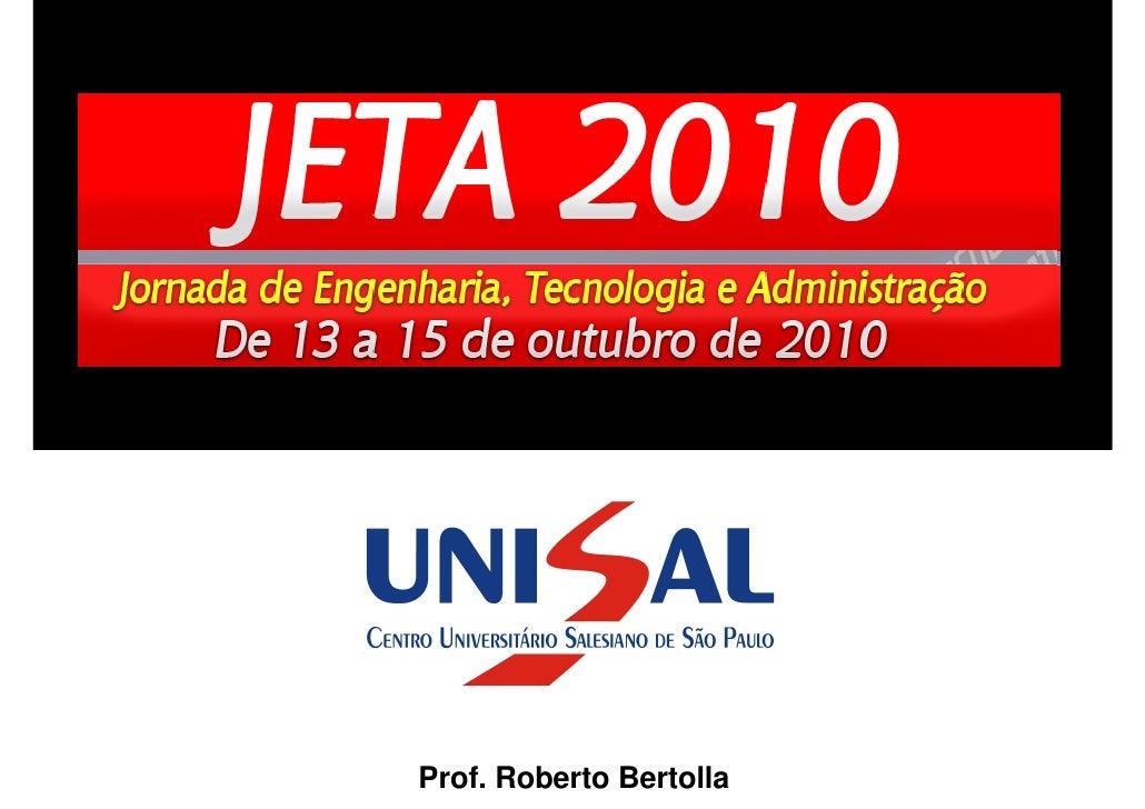 @RobertoBertolla     Prof. Roberto Bertolla