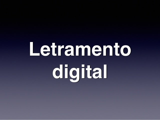 Letramento digital